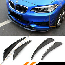 For BMW 4 Pcs Set JDM Real Carbon Fiber Bumper Fender Side Shark Fins Canards