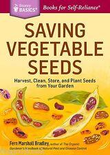 Saving Vegetable Seeds Basic Book For Self Reliance Save or Start Vegetables New
