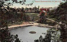 ST JOHN BC CANADA SCENE IN ROCKWOOD PARK VALENTINE'S & SON POSTCARD 1909