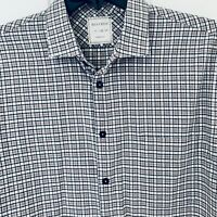 BILLY REID Standard Cut Button Front Shirt - Mens XLarge Gray Plaid Long Sleeves