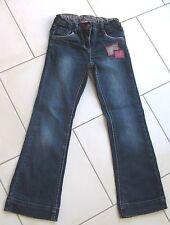 Jean fille 8 ans KIABI bleu bas boot cut ceinture ajustable