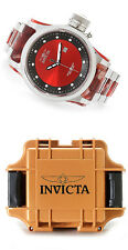 NEW INVICTA 52mm RUSSIAN DIVER REMIX 21667 RED MEN'S WATCH W/1-SLOT DIVE CASE