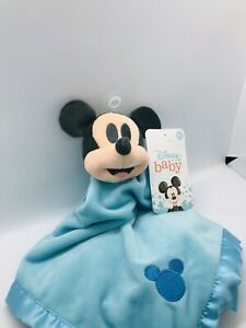 Disney Mickey Mouse Blankee Security Blanket Baby Lovey Blue Shower