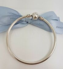 Authentic Pandora Sterling Silver Moments Bangle 17cm Small Size