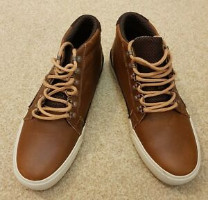Mens DC Shoes Council Mid LX Luxury Worn Vintage Boots Leather Brown