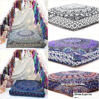 """Übergroße indische Mandala Square Boden Kissen im Freien Bett Puffs Decken 35 """""""