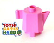 *NEW* LEGO DUPLO Pink Teapot Tea Coffee Pot House family Kitchen Table Food Eat