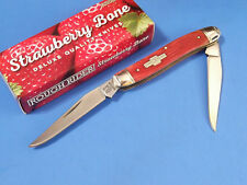 "ROUGH RIDER RR1506 Red Strawberry Bone MUSKRAT pocket knife 3 7/8"" closed NEW"