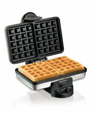 Hamilton Beach Waffle Maker Irons Belgian Style Double Kitchen Bakery Stainless