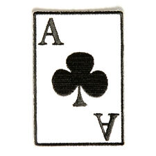 Embroidered Ace Of Clubs Playing Card Sew or Iron on Patch Biker Patch