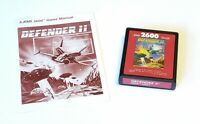 Defender 2 (Atari 2600, 1981) Cart & Manual, Tested