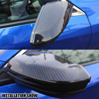 Carbon Fiber Look Side Mirror Rear-view Cover Caps For Honda Civic 16-2018