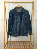 VTG Ms Lee Women's Blue Denim Trucker Jean Jacket Size 15/16 Made In USA