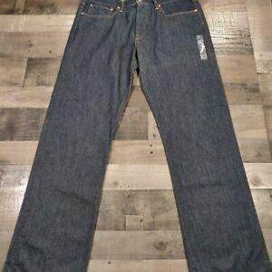 Gap 1969 Dark Blue Denim Mens Size 38X36 Solid Standard Fit Straight Leg Jeans