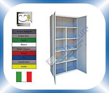 Armadio Ufficio Mobile Porta Colorata Metallo Metallico Archivio 2mt x 1mt x 40