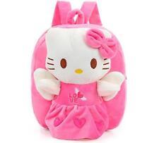 New Cute Pink Hello Kitty Backpack Girls Preschool Bag Plush Schoolbag Kids Bag