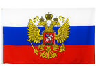 Fahne Russland mit Wappen 90x150 cm russische Flagge mit Adler Russia Hissflagge