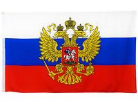 Fahne Russland mit Adler 90x150 cm russische Flagge mit Adler Russia Hissflagge