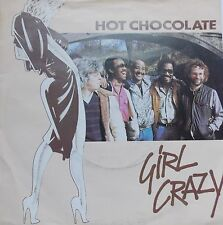 "Hot Chocolate - Girl Crazy / Bed Games 1980s Soul 7"" Vinyl (RAK 341) 45 RPM"