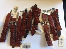 Lot 10pc Walt Disney Braided Brown Leather Replacement Watch Band 18mm NWT