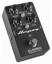 Ampeg Classic BASS PREAMP Preamplificatore Audio analog 3-band True Bypass BATTERIA