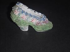 ELFINWARE MOSSWARE FLOWER ENCRUSTED PORCELAIN LADIES SHOE GERMANY?