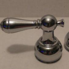 Retro Antique Look Pair Chrome Faucet Lever Style Handles Teapot Shaped Base