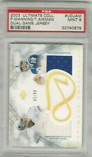 Peyton Manning Troy Aikman 2003 Upper Deck Ultimate Jersey Patch #/99 PSA 9 POP1