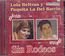 Lola Beltran y Paquita La Del Barrio Sin Rodeos CD New Sealed