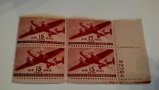 1944 C28 Air Mail block mnh airplane 15c