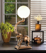 Elephant Statue Table Lamp Trumpeting Figurine decor