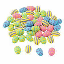 Mini Self-Adhesive Wooden Easter Eggs - Craft Supplies - 50 Pieces
