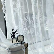 Retro Vintage Door Window Curtain Lace Panel Drape Sheer Voile Tulle Valances