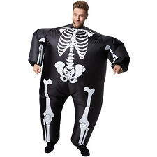 Selbstaufblasbares Unisex Kostüm Skelett aufblasbar BlowUp Fasching Karneval