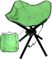 4 LEGS PORTABLE FOLDING CAMPING STOOL CHAIR SEAT HIKING BBQ OUTDOOR FISHING NEW