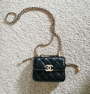 Brand New Authentic rare Chanel Super Mini Gold Balls Ajustable Crossbody Bag
