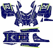 POLARIS RUSH PRO RMK  ASSAULT 120 136 144 155 163 hood kit DECAL seahawk seattle
