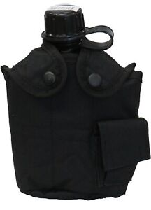 WESTROOPER BLACK CANTEEN + POUCH COMBO HYDRATION BPA FREE FLEECE INSULATION