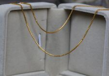 15.7inches-Pure 18K Solid Yellow Gold Necklace / Perfect Box Chain/ Within 1g