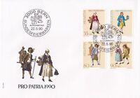 SW97) Switzerland 1990 Pro Patria - 700th Anniversary Of The Art & Culture FDC.