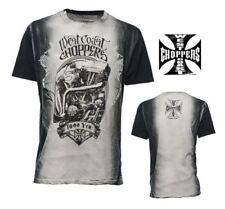 Magliette da uomo nere West Coast Choppers in cotone