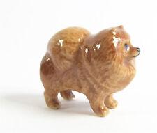 Pomeranian Miniature Porcelain Dog Figurine Approx 1.5cm High x 2.5cm Long -Tiny