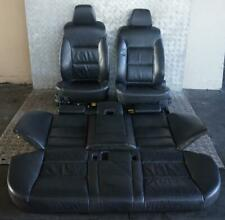 BMW 5 Series E60 Heated Black Leather Interior Seats With Door Cards