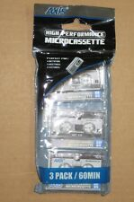 New 3 Pack Micro Cassettes 60 Minutes High Performance