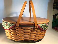 Longaberger 2004 Holiday Hostess Greeting Basket Combo