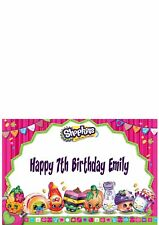 Shopkins Girls Birthday Card Personalised - Any Name Age and Inside Message
