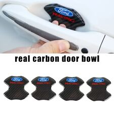FORD Racing Real Carbon Anti Scratch Badge Door Handle Bowl Cover 4PCS