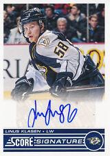 2013/14 Score Hockey SS-LK Linus Klasen Score Signatures Insert