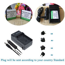 Li-ion Battery 2 pack +Charger  FOR Casio NP-80 NP-82 / Fujifilm NP-45 NP-45A