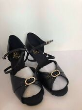 Size 6 Roch Valley Leather Greek Sandals  Black Ladies GSB6L Made in England
